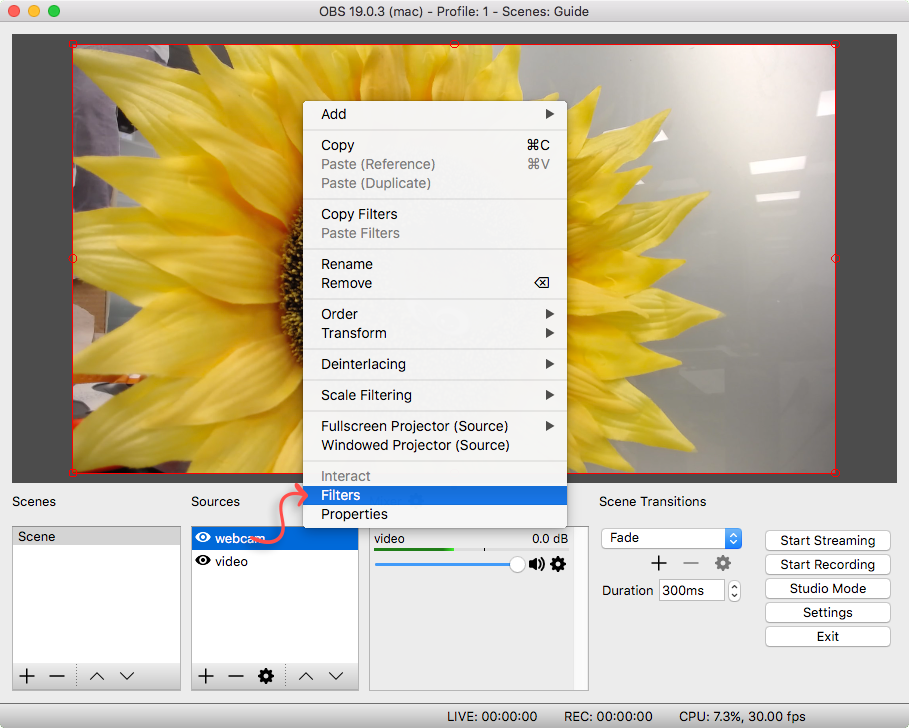 Using an Image Mask in OBS (Open Broadcaster Software)